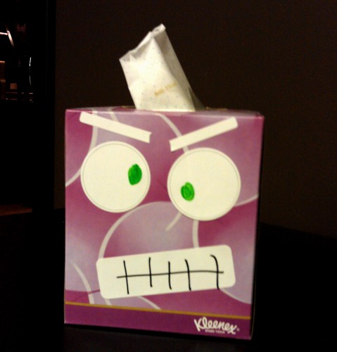 Angry Tissue Box