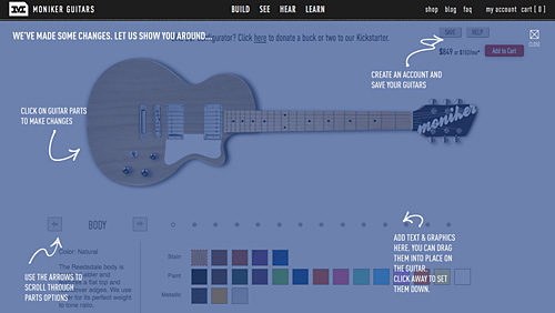 Design your own custom guitar